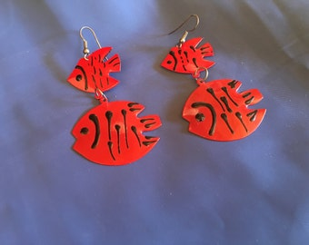 80's Fish Dangle Earrings