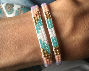 Pastel set of 2 bracelets