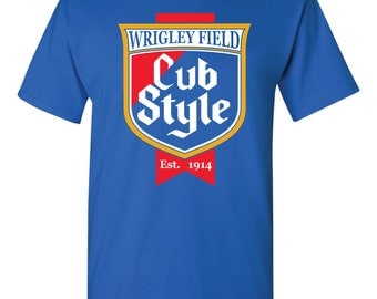 Chicago Cubs Cubs Wrigley Field Cub Style Baseball Tee Shirt Size Small - 5XL Royal Blue