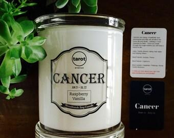 Cancer - Zodiac Candle - Raspberry Vanilla