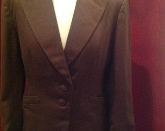 1940's / 50s Vintage Brown Ladies Fitted Jacket / Tailored by SCHWARTZ, Cincinnati  USA.