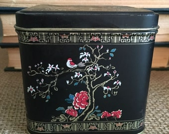 Storage Tin with Chinese Design