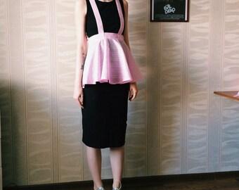 Pink fashion apron peplum