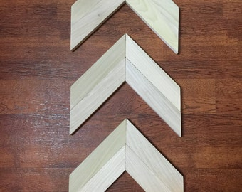 Chevron arrow 3 piece wall hanging