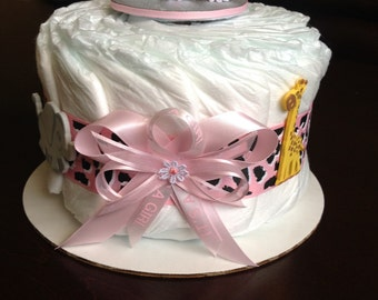 Baby girl one tier cake