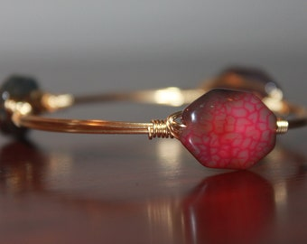 Jewel Tone Agate Bangle