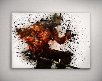 Knight Print, Dark Knight Poster Watercolor Art