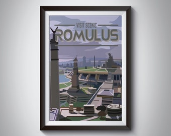 Star Trek Travel Poster: Romulus | Instant Download