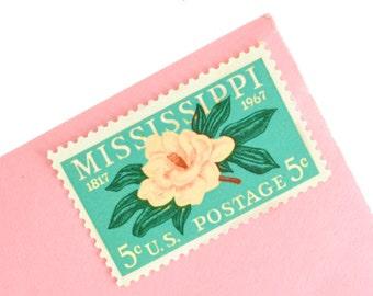 25 Mississippi Stamps - 5c - Magnolia Flower - 1967 - Unused Postage - Quantity of 25