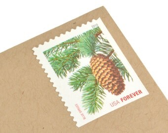 20 Holiday Evergreens Postage Stamps - Forever - Unused - Quantity of 20
