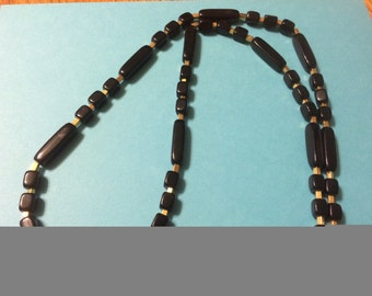 Vintage Trifari Black and Gold Classic Costume Jewelry, Bakelite, Signed