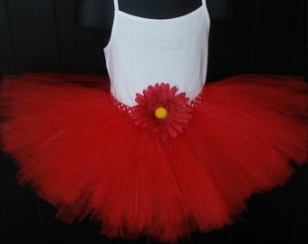 Little Girls Red Tutu Size 3T - 4T