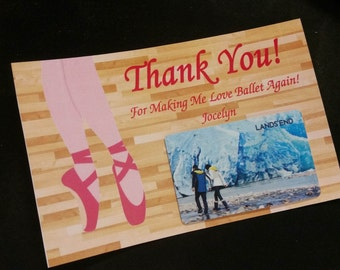 Printable Gift Card Holder - Thank You Card