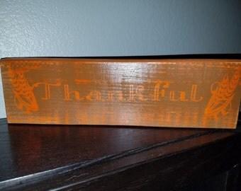 Thankful Wood Sign, Fall Wood Sign