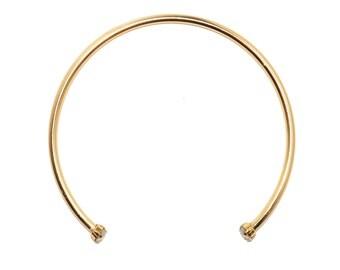 swarovski crystal gold choker necklace