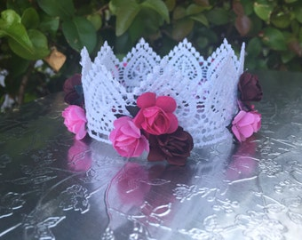 Baby, Lace, Crown, Photo, Props, Newborn, Infant, Headband, Babies, Girls. Baby Accesories, Bun Covers