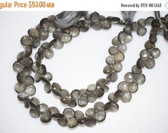 "45% OFF Black Moonstone Faceted Heart Shape Briolette , 10"" Strand - Black Moonstone Faceted Heart Beads , 7x7 - 10x10 mm , BL373"