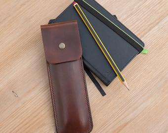 Leather Pencil Case - Handmade Leather Pencil Case