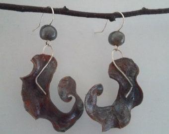 Forest earrings, natural earrings, leaf earrings, unique earrings