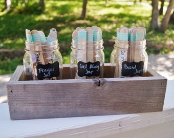 Chore Jars/ Activity Jars/ Prayer Jars/ With Rustic Box
