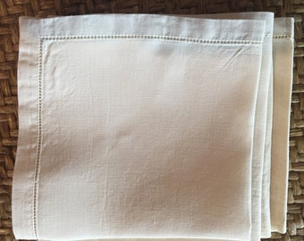 Vintage linen napkins set of 4