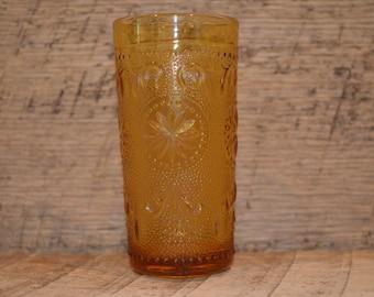 Vintage Amber Juice Glass, Amber Glass, Vintage Juice Glass