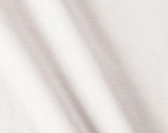 White Cotton Lycra Rib Knit Fabric