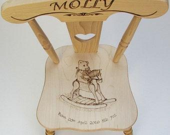 Handmade, Personalised Children's Wooden Chair