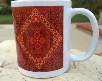 Original Red Embroidery Mug