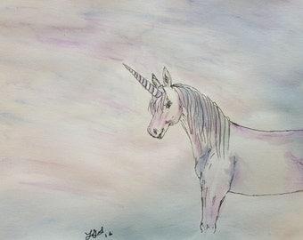 Unicorn Original Watercolor - Perfect for a bedroom