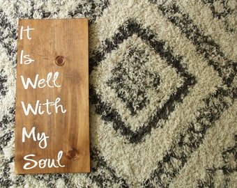 It is Well with my Soul Rustic Wood Wall Plaque // Adoption Fundraiser