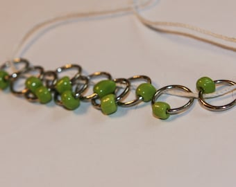 Bright Green Snag Free Stitch Markers (set of 10)