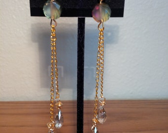 Smoky Topaz drop earrings