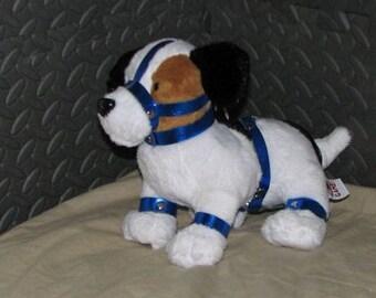 Mature Beagle in bondage