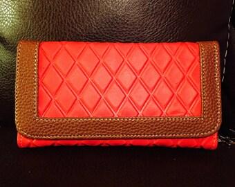 Wallet leather cartera de piel para mujer