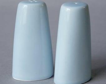 Salt & Pepper set in light blue-mid century Danish style
