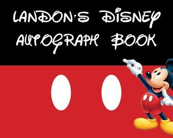 Custom Disney Autograph Book Cover - Autograph Book - Disney World Autographs - Disneyland Signature book - Printables - Mickey Printable