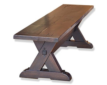 Reclaimed Wood Bench, White Oak Bench, Table Bench