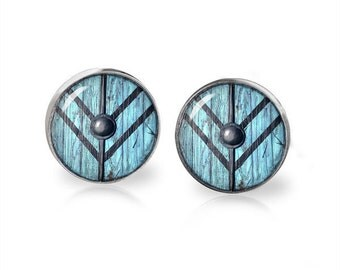 Vikings Lagertha Shield Fandom Jewelry Stud Earrings Shield Maiden Fangirl Fanboy