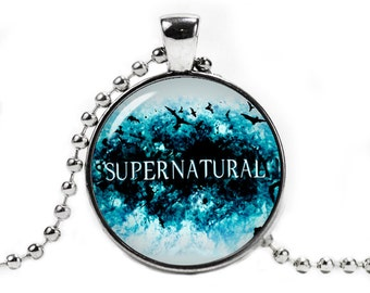 Supernatural Necklace Pendant Supernatural Jewelry Geeky Fangirl Fanboy