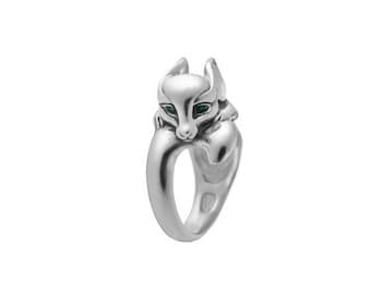 Fox ring, Fox Jewelry, Fennec Fox ring / Solid sterling silver (silver 925)