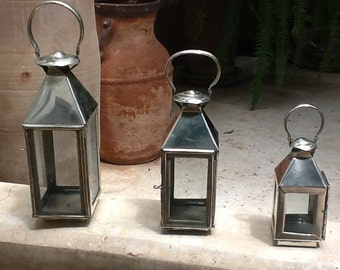 Moroccan lanterns, Moroccan decor,Christmas gift,xmas hanging lantern, Moroccan light, handmade lanterns, silver metal lanterns,lanterns