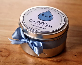Hagrid's Garden - 8 oz natural soy tin candle - Harry Potter - CandidRain Candlery