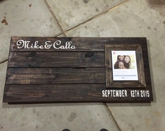 Reclaimed Wood Guest Book