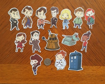 Doctor Who Stickers Set