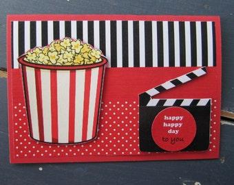 Movie Party Birthday Card-boys or girls