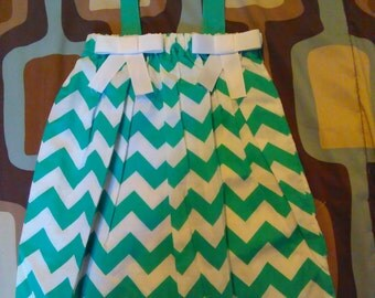 3T teal Chevron dress