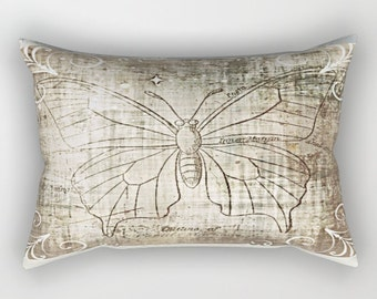 Ancient Butterfly-  Rectangular Lumbar Pillow