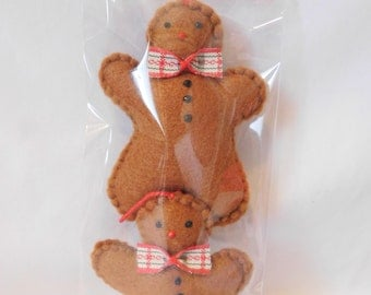 Gingerbread Man Christmas Mini-Decoration (pack of 2)