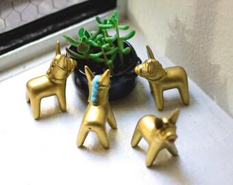 Unique Golden Hand Made Donkeys